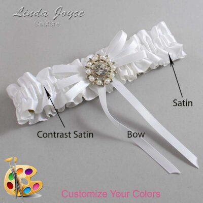 Couture Garters / Custom Wedding Garter / Customizable Wedding Garters / Personalized Wedding Garters / Caitlin #01-B11-M14 / Wedding Garters / Bridal Garter / Prom Garter / Linda Joyce Couture
