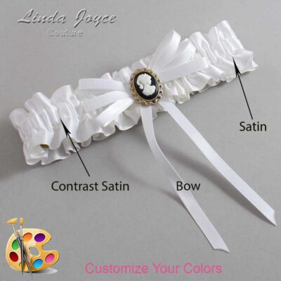 Couture Garters / Custom Wedding Garter / Customizable Wedding Garters / Personalized Wedding Garters / Carli #01-B11-M15 / Wedding Garters / Bridal Garter / Prom Garter / Linda Joyce Couture
