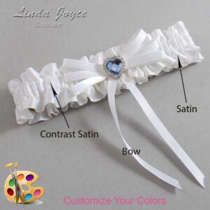 Couture Garters / Custom Wedding Garter / Customizable Wedding Garters / Personalized Wedding Garters / Dora #01-B11-M25 / Wedding Garters / Bridal Garter / Prom Garter / Linda Joyce Couture