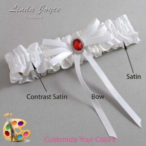 Couture Garters / Custom Wedding Garter / Customizable Wedding Garters / Personalized Wedding Garters / Elissa #01-B11-M26 / Wedding Garters / Bridal Garter / Prom Garter / Linda Joyce Couture