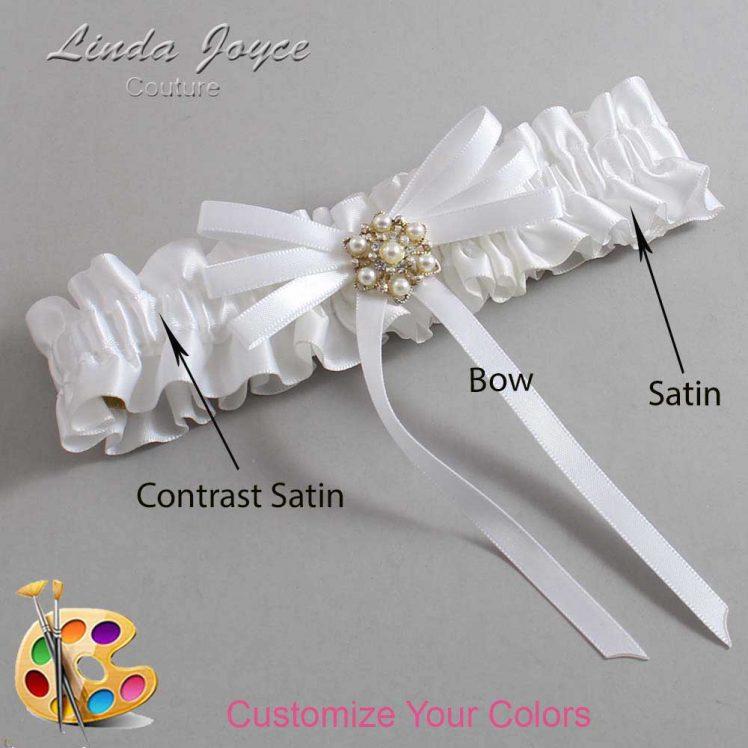 Couture Garters / Custom Wedding Garter / Customizable Wedding Garters / Personalized Wedding Garters / Ellie #01-B11-M27 / Wedding Garters / Bridal Garter / Prom Garter / Linda Joyce Couture