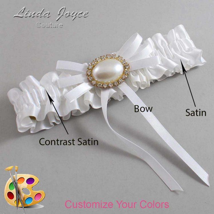 Couture Garters / Custom Wedding Garter / Customizable Wedding Garters / Personalized Wedding Garters / Emma #01-B11-M28 / Wedding Garters / Bridal Garter / Prom Garter / Linda Joyce Couture