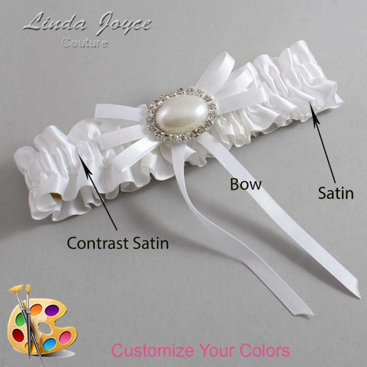 Couture Garters / Custom Wedding Garter / Customizable Wedding Garters / Personalized Wedding Garters / Emma #01-B11-M30 / Wedding Garters / Bridal Garter / Prom Garter / Linda Joyce Couture