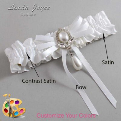 Couture Garters / Custom Wedding Garter / Customizable Wedding Garters / Personalized Wedding Garters / Felicia #01-B11-M32 / Wedding Garters / Bridal Garter / Prom Garter / Linda Joyce Couture