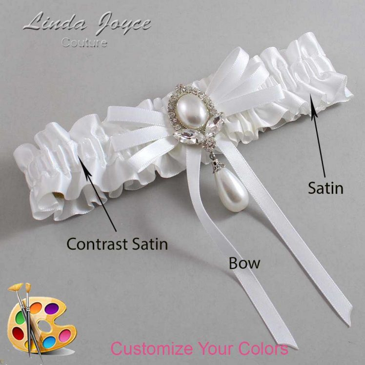Couture Garters / Custom Wedding Garter / Customizable Wedding Garters / Personalized Wedding Garters / Felicia #01-B11-M32 / Wedding Garters / Bridal Garter / Prom Garter / Linda Joyce Couture