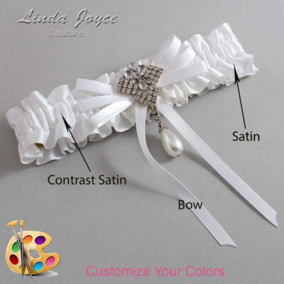 Couture Garters / Custom Wedding Garter / Customizable Wedding Garters / Personalized Wedding Garters / FiFi #01-B11-M33 / Wedding Garters / Bridal Garter / Prom Garter / Linda Joyce Couture