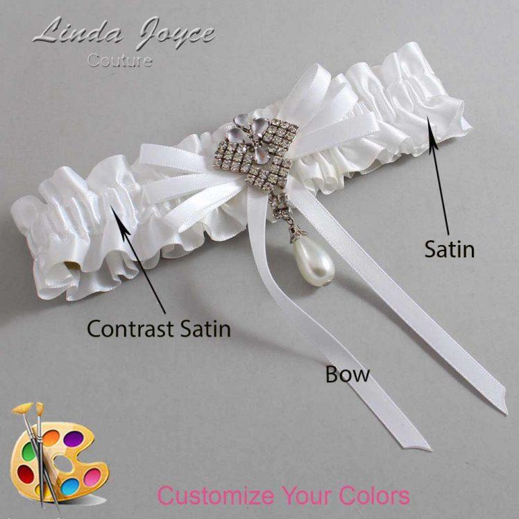 Couture Garters / Custom Wedding Garter / Customizable Wedding Garters / Personalized Wedding Garters / FiFi #01-B11-M33 / Wedding Garters / Bridal Garter / Prom Garter / Linda Joyce Couture