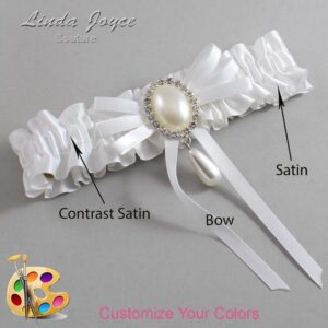 Couture Garters / Custom Wedding Garter / Customizable Wedding Garters / Personalized Wedding Garters / Florence #01-B11-M35 / Wedding Garters / Bridal Garter / Prom Garter / Linda Joyce Couture