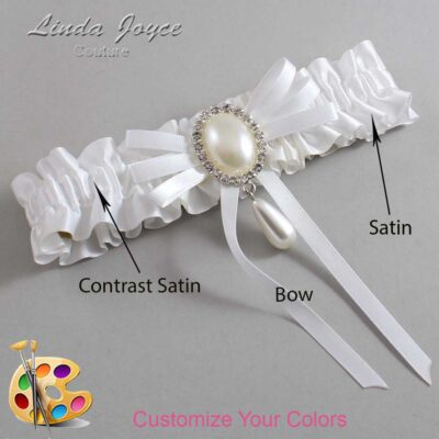 Customizable Wedding Garter / Andrea #01-B11-M35