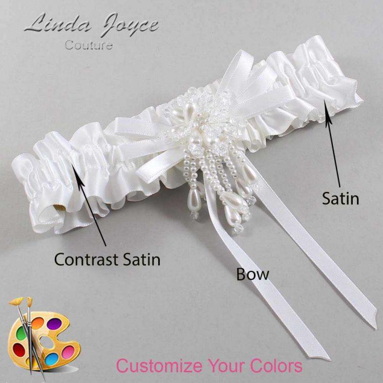 Couture Garters / Custom Wedding Garter / Customizable Wedding Garters / Personalized Wedding Garters / Gabrielle #01-B11-M38 / Wedding Garters / Bridal Garter / Prom Garter / Linda Joyce Couture