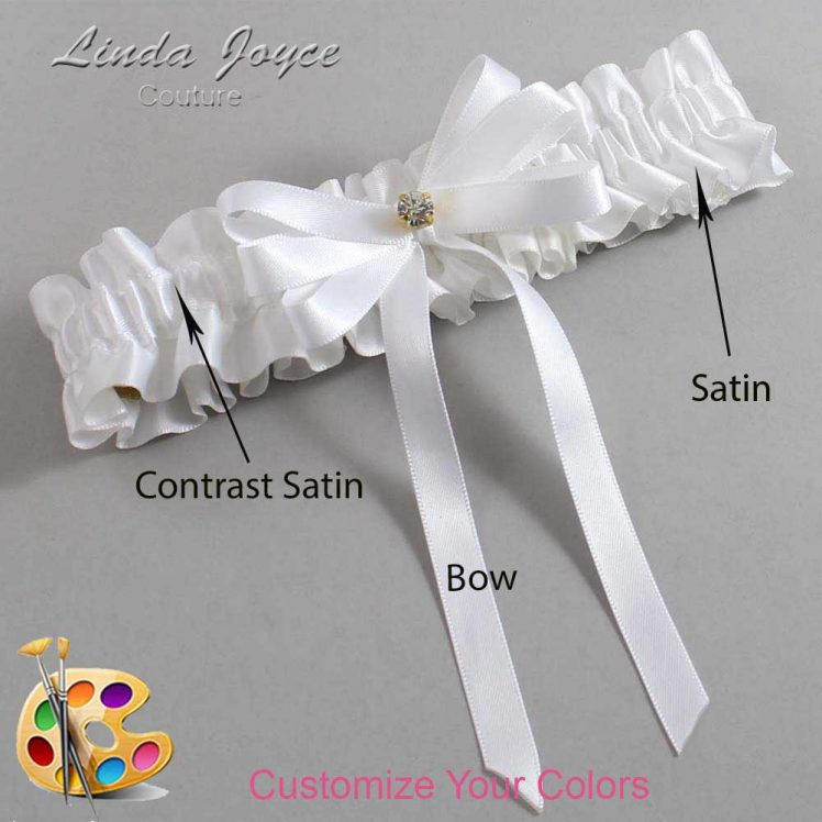 Couture Garters / Custom Wedding Garter / Customizable Wedding Garters / Personalized Wedding Garters / Venessa #01-B12-M03 / Wedding Garters / Bridal Garter / Prom Garter / Linda Joyce Couture