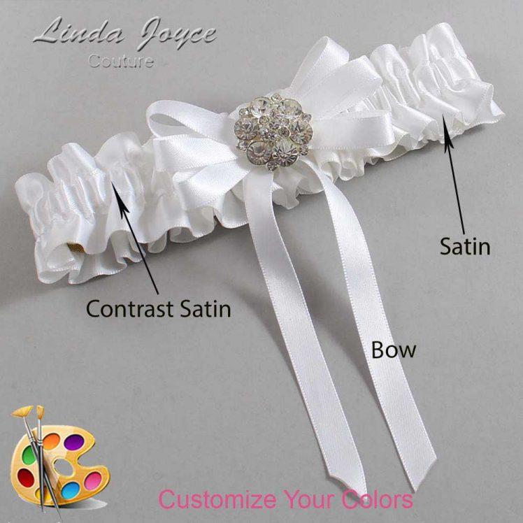 Couture Garters / Custom Wedding Garter / Customizable Wedding Garters / Personalized Wedding Garters / Ashton #01-B12-M11 / Wedding Garters / Bridal Garter / Prom Garter / Linda Joyce Couture
