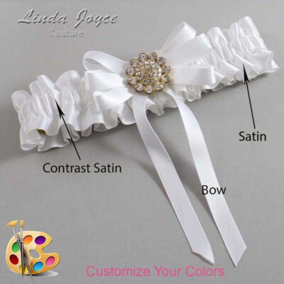 Couture Garters / Custom Wedding Garter / Customizable Wedding Garters / Personalized Wedding Garters / Brett #01-B12-M12 / Wedding Garters / Bridal Garter / Prom Garter / Linda Joyce Couture