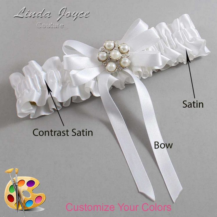 Couture Garters / Custom Wedding Garter / Customizable Wedding Garters / Personalized Wedding Garters / Carmilla #01-B12-M13 / Wedding Garters / Bridal Garter / Prom Garter / Linda Joyce Couture