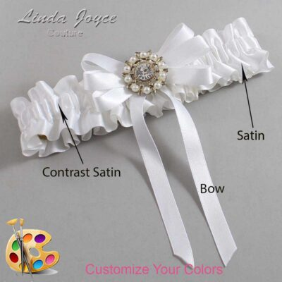 Couture Garters / Custom Wedding Garter / Customizable Wedding Garters / Personalized Wedding Garters / Robin #01-B12-M14 / Wedding Garters / Bridal Garter / Prom Garter / Linda Joyce Couture