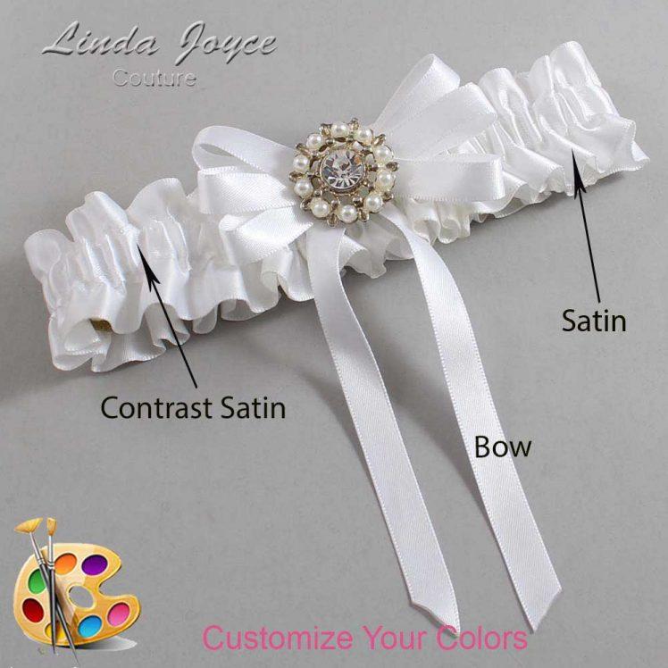 Couture Garters / Custom Wedding Garter / Customizable Wedding Garters / Personalized Wedding Garters / Robin #01-B12-M14 / Wedding Garters / Bridal Garter / Prom Garter / Linda Joyce Couture