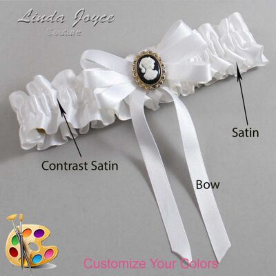 Couture Garters / Custom Wedding Garter / Customizable Wedding Garters / Personalized Wedding Garters / Sally #01-B12-M15 / Wedding Garters / Bridal Garter / Prom Garter / Linda Joyce Couture