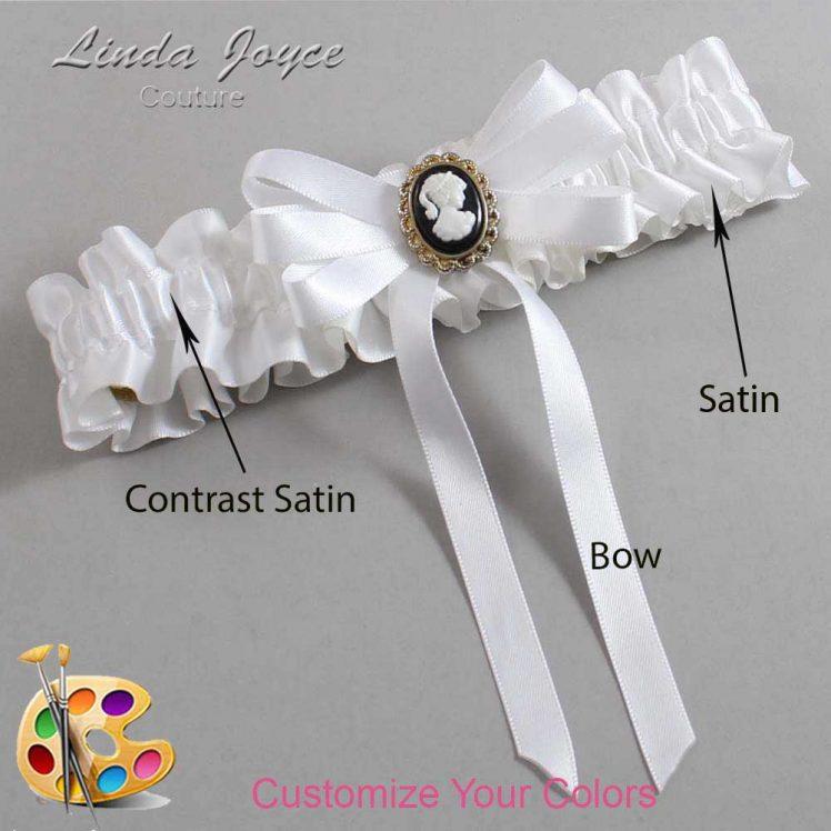 Couture Garters / Custom Wedding Garter / Customizable Wedding Garters / Personalized Wedding Garters / Sally #01-B12-M15 / Wedding Garters / Bridal Garter / Prom Garter / Linda Joyce Couture
