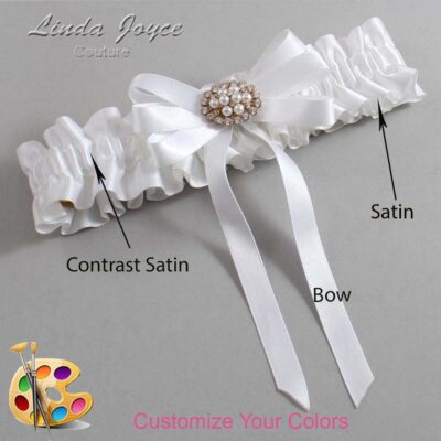 Couture Garters / Custom Wedding Garter / Customizable Wedding Garters / Personalized Wedding Garters / Tanya #01-B12-M16 / Wedding Garters / Bridal Garter / Prom Garter / Linda Joyce Couture