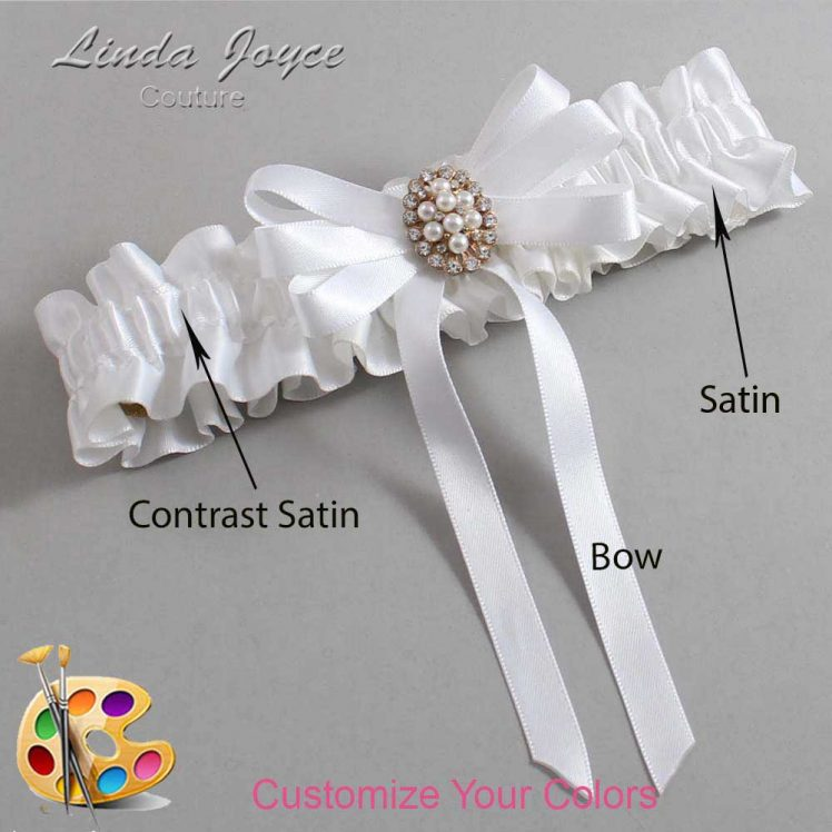 Couture Garters / Custom Wedding Garter / Customizable Wedding Garters / Personalized Wedding Garters / Whitney #01-B12-M17 / Wedding Garters / Bridal Garter / Prom Garter / Linda Joyce Couture