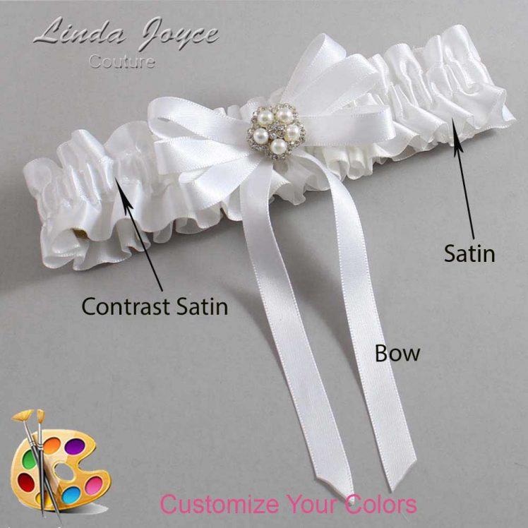Couture Garters / Custom Wedding Garter / Customizable Wedding Garters / Personalized Wedding Garters / Candice #01-B12-M20 / Wedding Garters / Bridal Garter / Prom Garter / Linda Joyce Couture