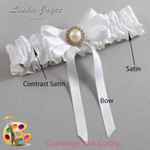 Couture Garters / Custom Wedding Garter / Customizable Wedding Garters / Personalized Wedding Garters / Carol #01-B12-M21 / Wedding Garters / Bridal Garter / Prom Garter / Linda Joyce Couture
