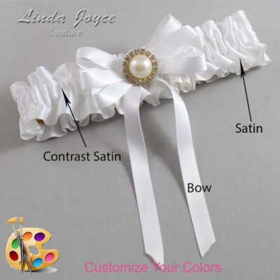 Couture Garters / Custom Wedding Garter / Customizable Wedding Garters / Personalized Wedding Garters / Carol #01-B12-M21 / Wedding Garters / Bridal Garter / Prom Garter / Linda Joyce Couture