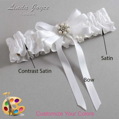 Couture Garters / Custom Wedding Garter / Customizable Wedding Garters / Personalized Wedding Garters / Thelma #01-B12-M23 / Wedding Garters / Bridal Garter / Prom Garter / Linda Joyce Couture