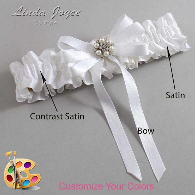 Couture Garters / Custom Wedding Garter / Customizable Wedding Garters / Personalized Wedding Garters / Thelma #01-B12-M23 / Wedding Garters / Bridal Garter / Prom Garter / Linda Joyce Couture