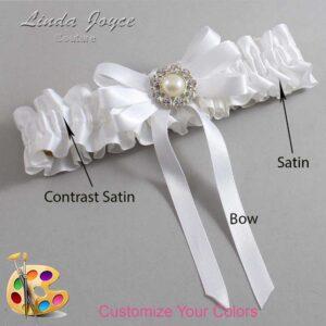 Couture Garters / Custom Wedding Garter / Customizable Wedding Garters / Personalized Wedding Garters / Wanda #01-B12-M24 / Wedding Garters / Bridal Garter / Prom Garter / Linda Joyce Couture