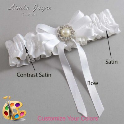 Couture Garters / Custom Wedding Garter / Customizable Wedding Garters / Personalized Wedding Garters / Wanda #01-B12-M24 / Wedding Garters / Bridal Garter / Prom Garter / Linda Joyce Couture