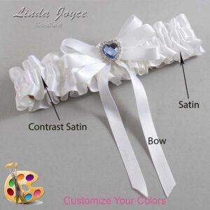Couture Garters / Custom Wedding Garter / Customizable Wedding Garters / Personalized Wedding Garters / Winnie #01-B12-M25 / Wedding Garters / Bridal Garter / Prom Garter / Linda Joyce Couture