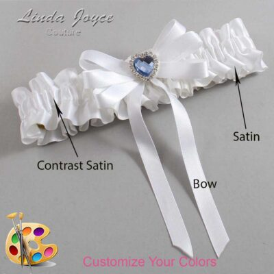 Couture Garters / Custom Wedding Garter / Customizable Wedding Garters / Personalized Wedding Garters / Winnie #01-B12-M25 / Wedding Garters / Bridal Garter / Prom Garter / Linda Joyce Couture