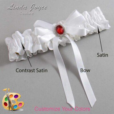 Couture Garters / Custom Wedding Garter / Customizable Wedding Garters / Personalized Wedding Garters / Roxanne #01-B12-M26 / Wedding Garters / Bridal Garter / Prom Garter / Linda Joyce Couture