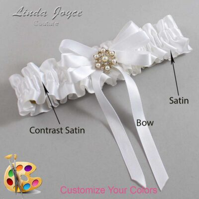 Couture Garters / Custom Wedding Garter / Customizable Wedding Garters / Personalized Wedding Garters / Savannah #01-B12-M27 / Wedding Garters / Bridal Garter / Prom Garter / Linda Joyce Couture