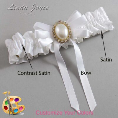 Couture Garters / Custom Wedding Garter / Customizable Wedding Garters / Personalized Wedding Garters / Zoe #01-B12-M29 / Wedding Garters / Bridal Garter / Prom Garter / Linda Joyce Couture