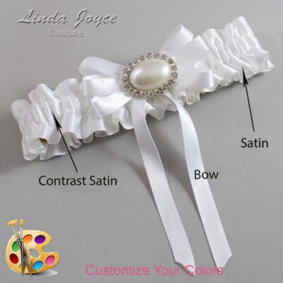Couture Garters / Custom Wedding Garter / Customizable Wedding Garters / Personalized Wedding Garters / Velma #01-B12-M30 / Wedding Garters / Bridal Garter / Prom Garter / Linda Joyce Couture