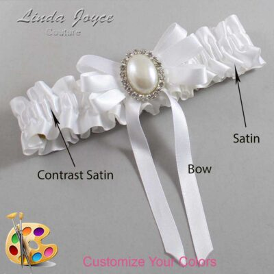 Couture Garters / Custom Wedding Garter / Customizable Wedding Garters / Personalized Wedding Garters / Zoe #01-B12-M31 / Wedding Garters / Bridal Garter / Prom Garter / Linda Joyce Couture