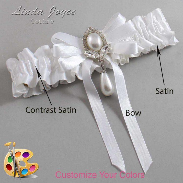 Couture Garters / Custom Wedding Garter / Customizable Wedding Garters / Personalized Wedding Garters / Patsy #01-B12-M32 / Wedding Garters / Bridal Garter / Prom Garter / Linda Joyce Couture