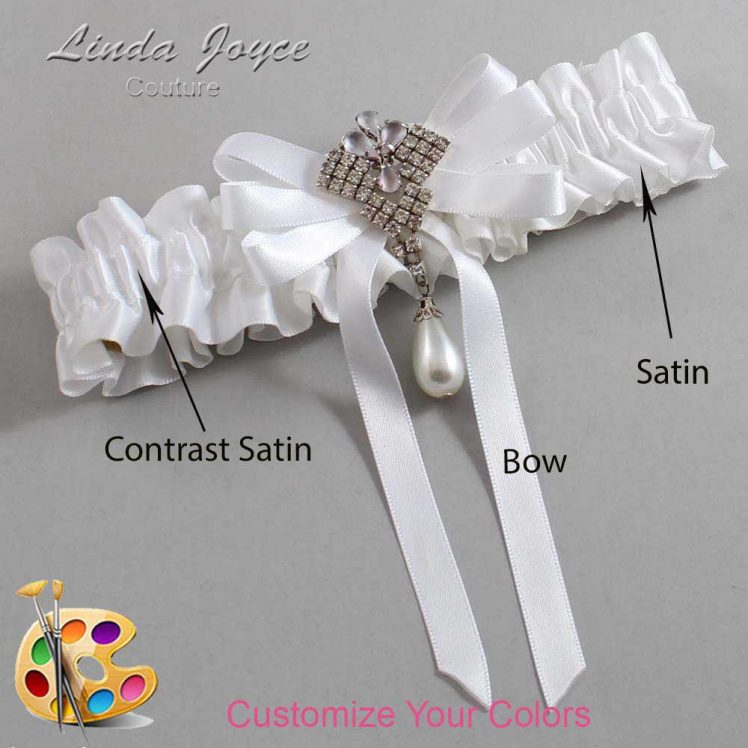 Couture Garters / Custom Wedding Garter / Customizable Wedding Garters / Personalized Wedding Garters / Priscilla #01-B12-M33 / Wedding Garters / Bridal Garter / Prom Garter / Linda Joyce Couture