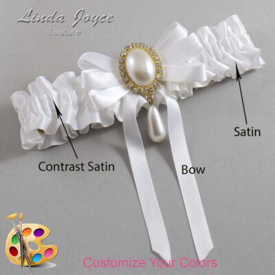 Couture Garters / Custom Wedding Garter / Customizable Wedding Garters / Personalized Wedding Garters / Yvonne #01-B12-M34 / Wedding Garters / Bridal Garter / Prom Garter / Linda Joyce Couture