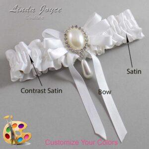 Couture Garters / Custom Wedding Garter / Customizable Wedding Garters / Personalized Wedding Garters / Yvonne #01-B12-M35 / Wedding Garters / Bridal Garter / Prom Garter / Linda Joyce Couture