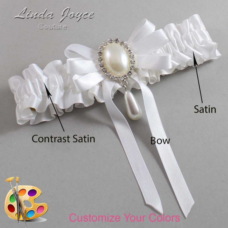 Couture Garters / Custom Wedding Garter / Customizable Wedding Garters / Personalized Wedding Garters / Yvonne #01-B12-M35 / Wedding Garters / Bridal Garter / Prom Garter / Linda Joyce Couture