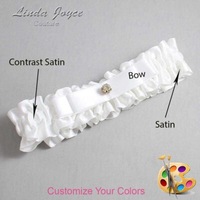 Couture Garters / Custom Wedding Garter / Customizable Wedding Garters / Personalized Wedding Garters / Lana #01-B20-M03 / Wedding Garters / Bridal Garter / Prom Garter / Linda Joyce Couture