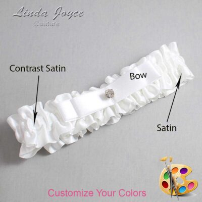 Couture Garters / Custom Wedding Garter / Customizable Wedding Garters / Personalized Wedding Garters / Lana #01-B20-M04 / Wedding Garters / Bridal Garter / Prom Garter / Linda Joyce Couture