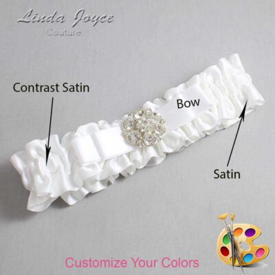 Couture Garters / Custom Wedding Garter / Customizable Wedding Garters / Personalized Wedding Garters / Alexis #01-B20-M11 / Wedding Garters / Bridal Garter / Prom Garter / Linda Joyce Couture