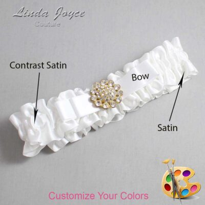 Couture Garters / Custom Wedding Garter / Customizable Wedding Garters / Personalized Wedding Garters / Bella #01-B20-M12 / Wedding Garters / Bridal Garter / Prom Garter / Linda Joyce Couture