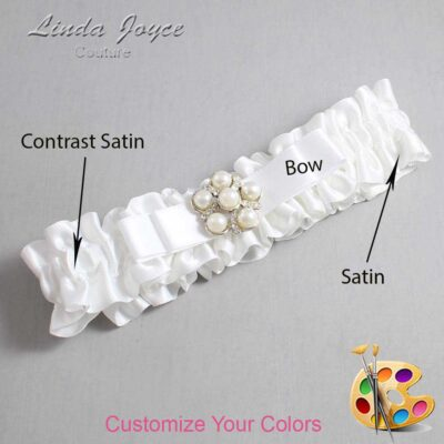Couture Garters / Custom Wedding Garter / Customizable Wedding Garters / Personalized Wedding Garters / Haley #01-B20-M13 / Wedding Garters / Bridal Garter / Prom Garter / Linda Joyce Couture