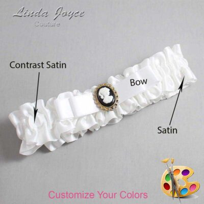 Couture Garters / Custom Wedding Garter / Customizable Wedding Garters / Personalized Wedding Garters / Avery #01-B20-M15 / Wedding Garters / Bridal Garter / Prom Garter / Linda Joyce Couture