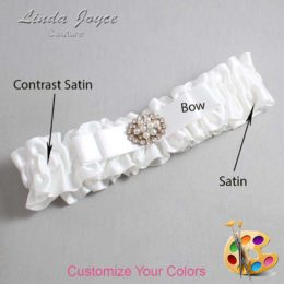 Customizable Wedding Garter / Lily #01-B20-M16